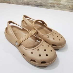 Crocs Mary Jane Slip On Comfort Shoes Perforated